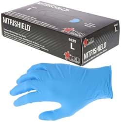 "Picture of Disposable Chemical Glove Nitrile 8mil. Powdered ""NitriShield""– L"