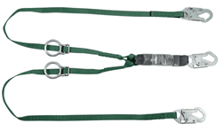Picture of V-Series Standard twin-leg adjustable energy absorbing lanyard, Tie-back, 6', 36C snaphook,ANSI Z359.13