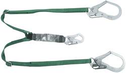 Picture of V-Series standard twin-leg adjustable energy absorbing lanyard, 6',36CL large snaphooks, CSA Z259.11-17