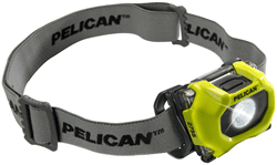 Picture of Flashlight Hands Free Head Mount LED Pelican - Yellow