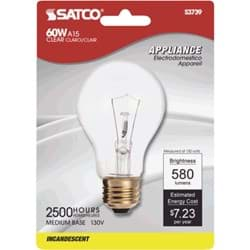 Picture of Satco A15 Incandescent Appliance Light Bulb