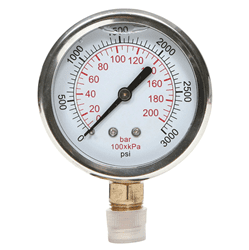"Picture of Gauge Liquid Filled 4"" Steel Stainless – 3Kpsi"
