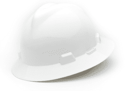 Picture of Hard Hat Full-Brim w/ Fas-Trac Suspension – White