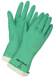 Picture of Glove Chemical Nitrile Green – L