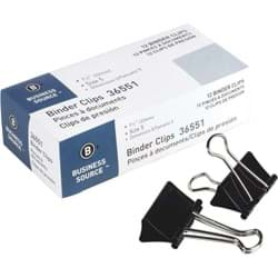 Picture of Business Source Binder Clips - Medium