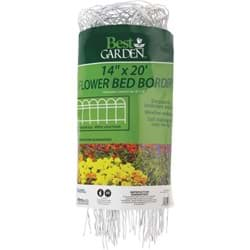 "Picture of Best Garden Flower Bed Decorative Border Fence - White - 14"" x 20'"