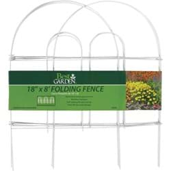 "Picture of Best Garden Folding Fence - White - 18"" x 8'"