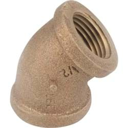Picture of Anderson Metal 45 Degree Red Brass Elbow - 1/2""