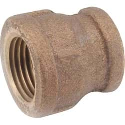 "Picture of Threaded Reducing Red Brass Coupling - 1/4""x1/8"""