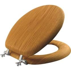Picture of Mayfair Natural Reflections Round Oak Veneer Toilet Seat