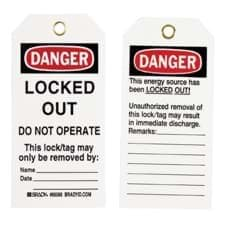 Picture of Lockout Tag B-851 Brady - 25 ct.