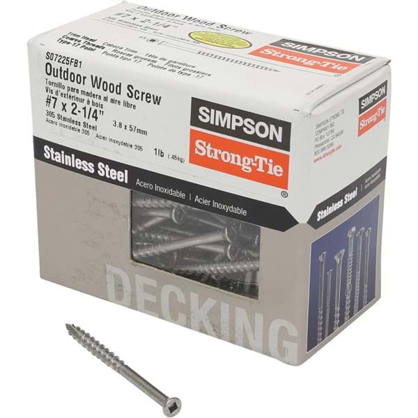 Picture of Simpson Strong-Tie Square Drive Trim Head Screw - #7x2-1/4""
