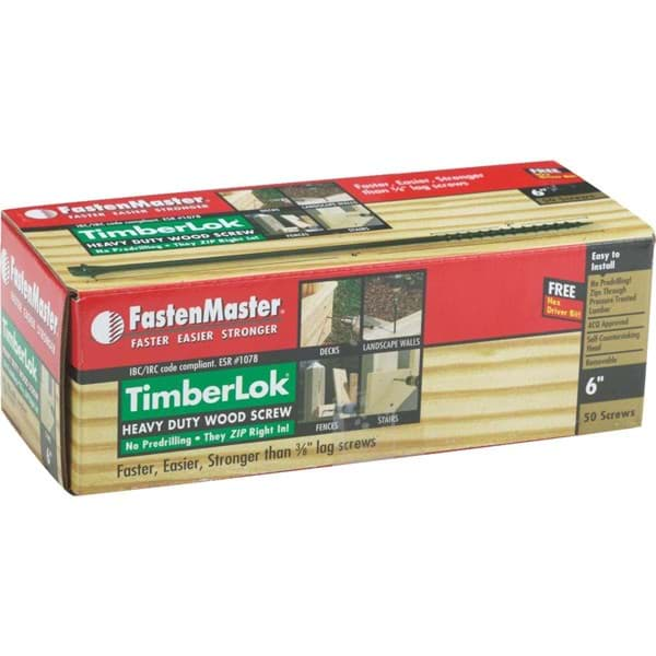 "Picture of FastenMaster TimberLOK Structure Screw - .26""x6"""