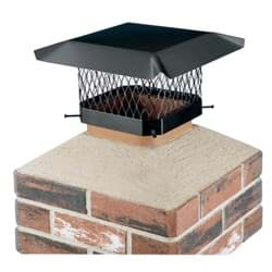 "Picture of Shelter Black Galvanized Chimney Cap - 7.5"" x 7.5"" to 9.5"" x 9.5"""