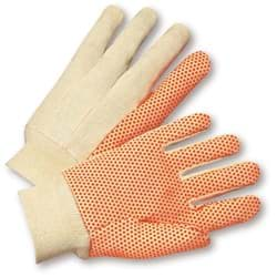 Picture of Glove Cotton White w/ Dot Orange