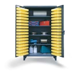 "Picture of Bin Storage Cabinet with Shelves - 36""x24""x72"""