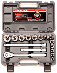 "Picture of Socket Set w/ Ratchet Drive 1/2"" 12 Point Wright – 16pc."