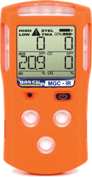 Picture of Gas Detector Gas 4 w/ Diffusion Gas Clip Technologies - H2S, CO, O2, LE