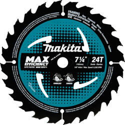 "Picture of 7-1/4"" 24T Carbide-Tipped Max Efficiency Circular Saw Blade, Framing"