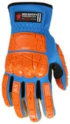 Picture of Glove MCR ForceFlex Top Blue Palm Synthetic Leather Padded Wrist Slip-On - M