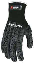 Picture of Glove MCR Predator Top Black Palm Nitrile Wrist Slip-On - L