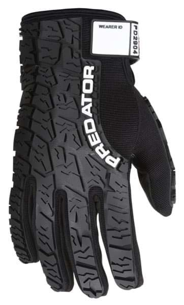 Picture of Glove MCR Predator Top Black Palm Synthetic Leather Wrist Adjustable - XL