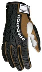 Picture of Glove MCR Predator Top Brown Palm Leather Padded Wrist Adjustable - L