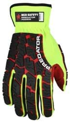 Picture of Glove MCR Predator Top Lime Palm Polyurethane Textured Wrist Slip-On - M