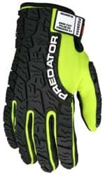 Picture of Glove MCR Predator Top Lime Palm Synthetic Leather Puncture Resistant Wrist Adjustable - L