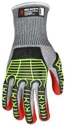 Picture of Glove MCR UltraTech Top Salt and Pepper Palm Nitrile Padded Wrist Slip-On - M