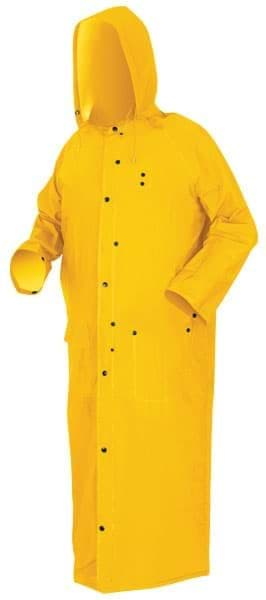 "Picture of Raincoat w/ Hood 60"" Yellow – M"