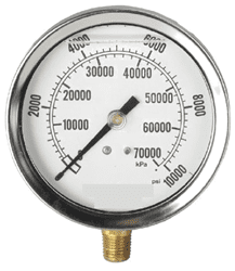 "Picture of Gauge Liquid Filled 4"" Steel Stainless – 10Kpsi"