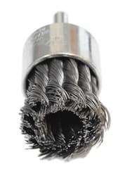 "Picture of 1-1/8"" Knot Wire End Brush, .014"" Steel Fill"