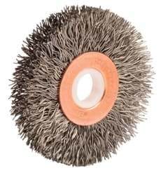 "Picture of 2"" Small Diameter Crimped Wire Wheel, .014"" Steel Fill, 1/2""-3/8"" Arbor Hole"