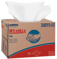 Picture of Shop Towel X60 Box Sheet 180 Wypall - White