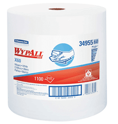 Picture of Shop Towel X60 Roll Sheet 1100 Wypall - White
