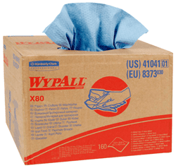 Picture of Shop Towel X80 Box Sheet 160 Wypall – Blue