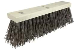 "Picture of 16"" Street Broom, 5-1/4"" Trim Length, Brown Polypropylene Fill"