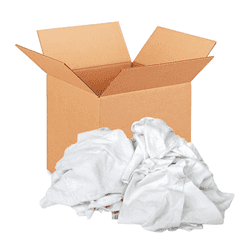 Picture of Rag White T-Shirt Box – 25lb.