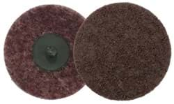 "Picture of 3"" Non-Woven Surface Conditioning Disc, Plastic Button Style, AO - Medium"