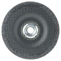 "Picture of 4-1/2"" x 1/4"" Wolverine Type 27 Grinding Wheel, A24R, 5/8""-11 Nut"