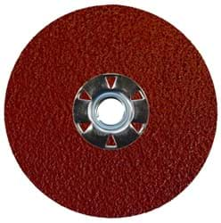 "Picture of 4-1/2"" Tiger Aluminum Resin Fiber Disc 36 Grit 5/8-11 UNC"