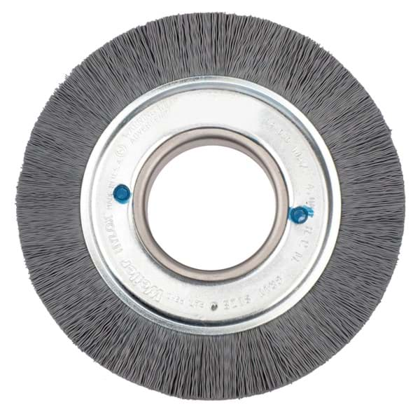 "Picture of 6"" Crimped Filament Nylox Wheel, .040/80SC Fill, 2"" Arbor Hole"