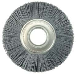 "Picture of 8"" Crimped Filament Nylox Wheel, .035/180SC, 2"" Arbor Hole"
