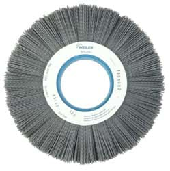 "Picture of 10"" Crimped Filament Nylox Wheel, .035/180SC Fill, 3-1/4"" Arbor Hole"