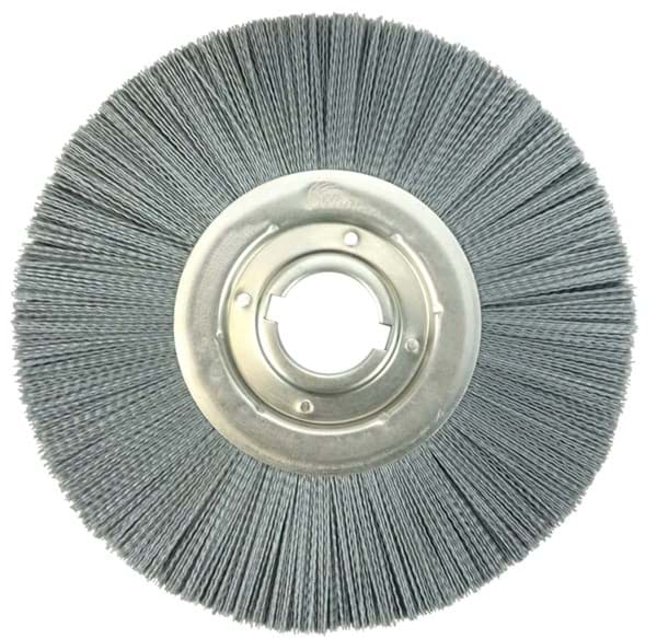 "Picture of 12"" Crimped Filament Nylox Wheel, .040/80SC Fill, 2"" Arbor Hole, Composite Metal Hub"