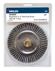 "Picture of Roughneck Jr. 6"" Root Pass Weld Cleaning Brush, .020"" Steel Wire Fill, 5/8""-11 UNC Nut, Retail Pack"