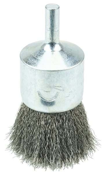"Picture of Crimped Wire End Brush 1"", .006"" Stainless Steel Fill, Vending Ready"