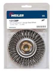 "Picture of Mini Roughneck 4"" Stringer Bead Wheel, .020"" Stainless Steel Fill, 5/8""-11 UNC Nut, Retail Pack"