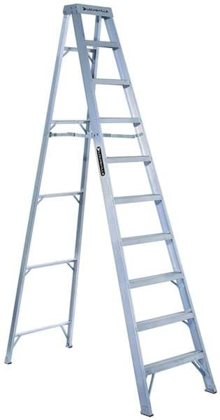 Picture of 10 ft Louisville AS1010 Aluminum Step Ladder, Type IA, 300 lb Load Capacity